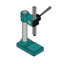 Arbor press setup for mounting a die set