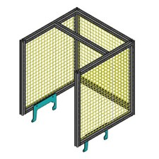 Pneumatic Arbor Press Guard Cage