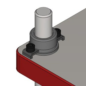 CAD Rendering of a die set demountable shoulder bushing