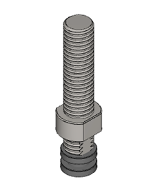 .5 X 2.5 inch tool adapter for arbor press
