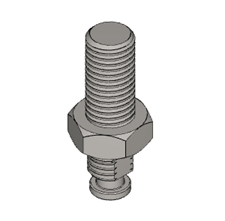 .75 X 1.5 inch tooling adapter for arbor press