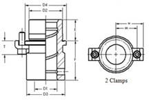 "CB-012-032 ( 1 1/2"" X 2"" Demountable Shoulder Bushing)"