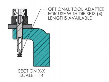 Optional Tool Adapter for A-0019 Arbor Press