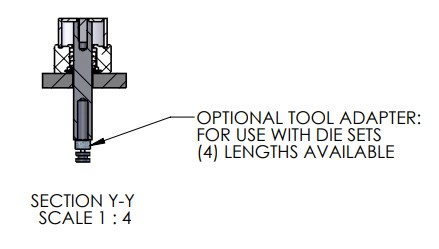 Tool Adapter for A-1066 Pneumatic Arbor Press