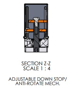 Adjustable Down Stop for A-3066 Pneumatic Arbor Press