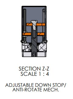Adjustable Down Stop for A-3151 Arbor Press