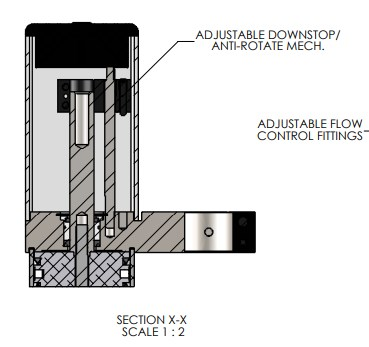 Adjustable Down Stop for the E-66 Precision Pneumatic Arbor Press