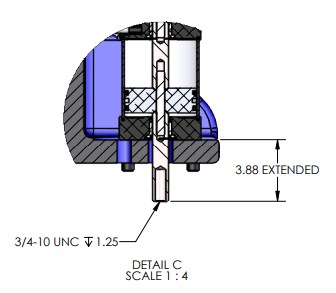 P-8453 Pneumatic Arbor Press DImensions