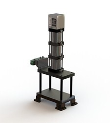 Pneumatic press for automotive wheel bearings